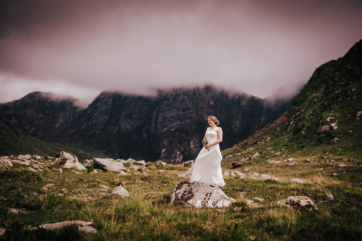An Chuirt Hotel Weddings bride photo in the poisoned glen