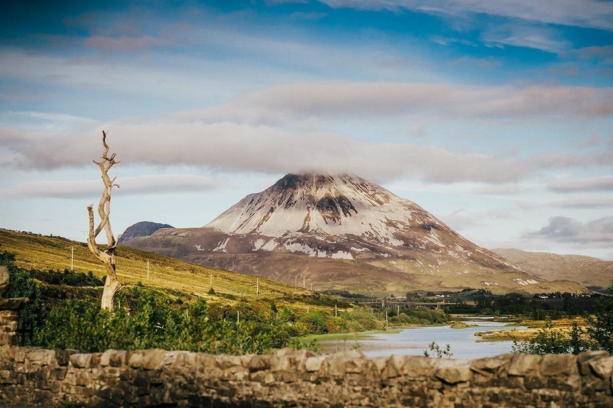An Chuirt Hotel Weddings view of errigal mountain