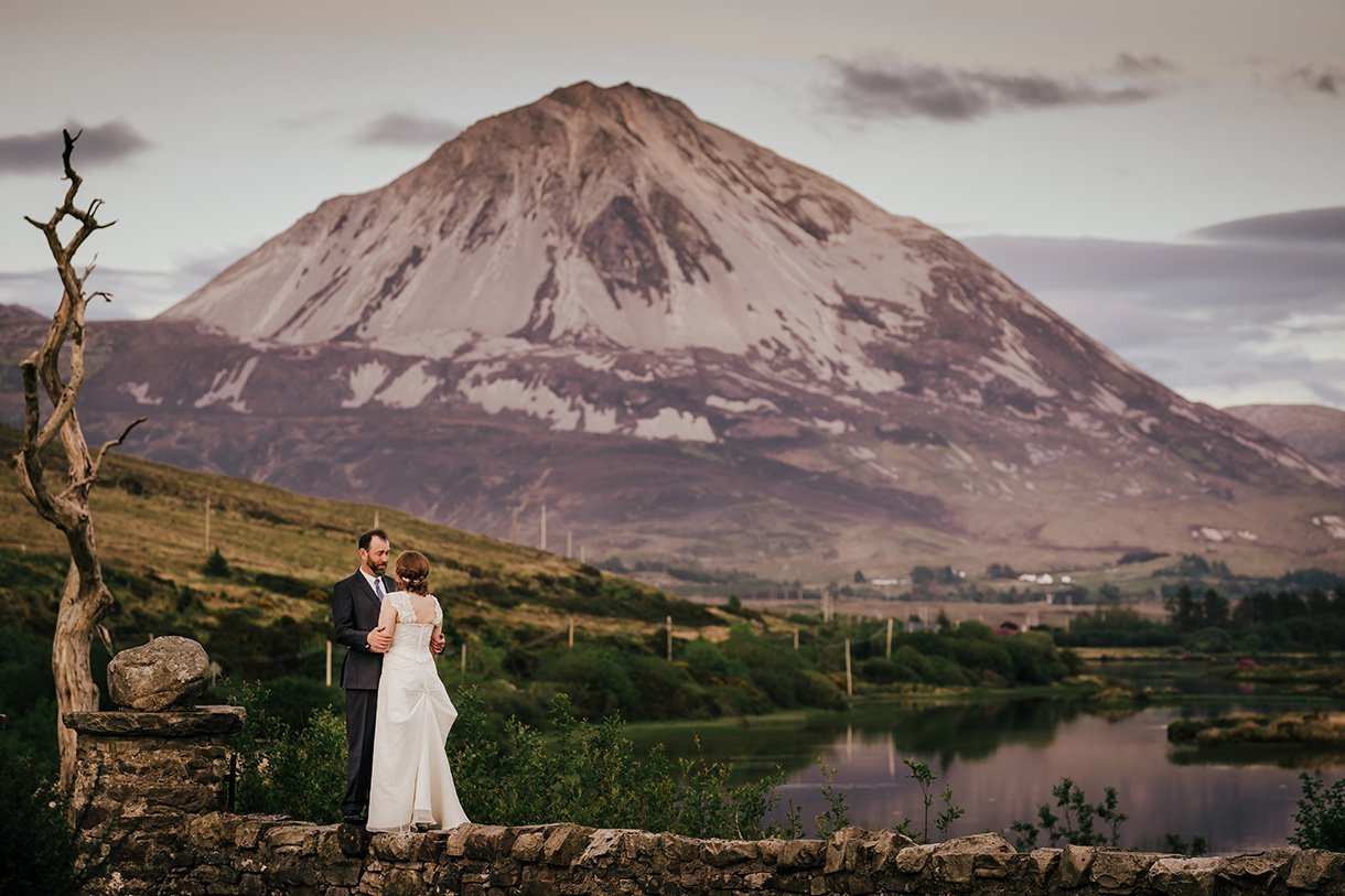 An Chuirt Hotel Weddings errigal mountain wedding photo
