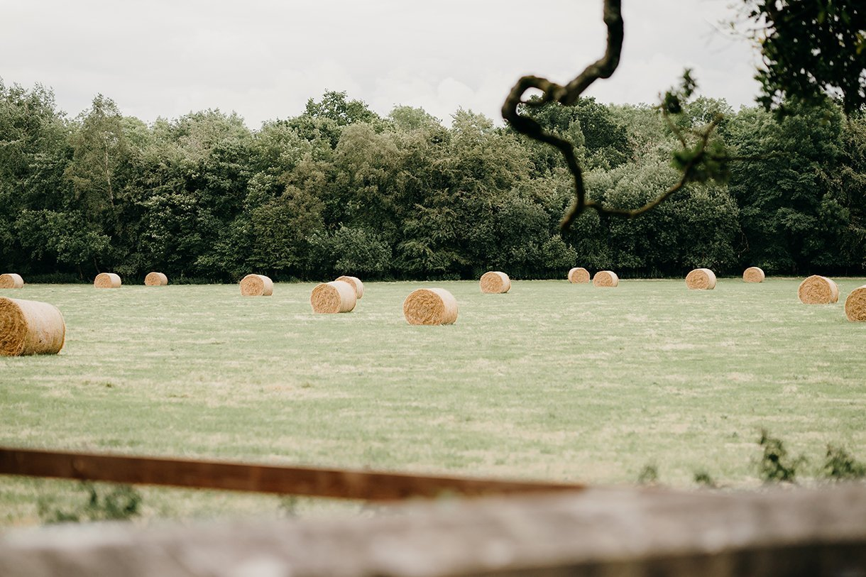 Martinstown House Wedding hay bales