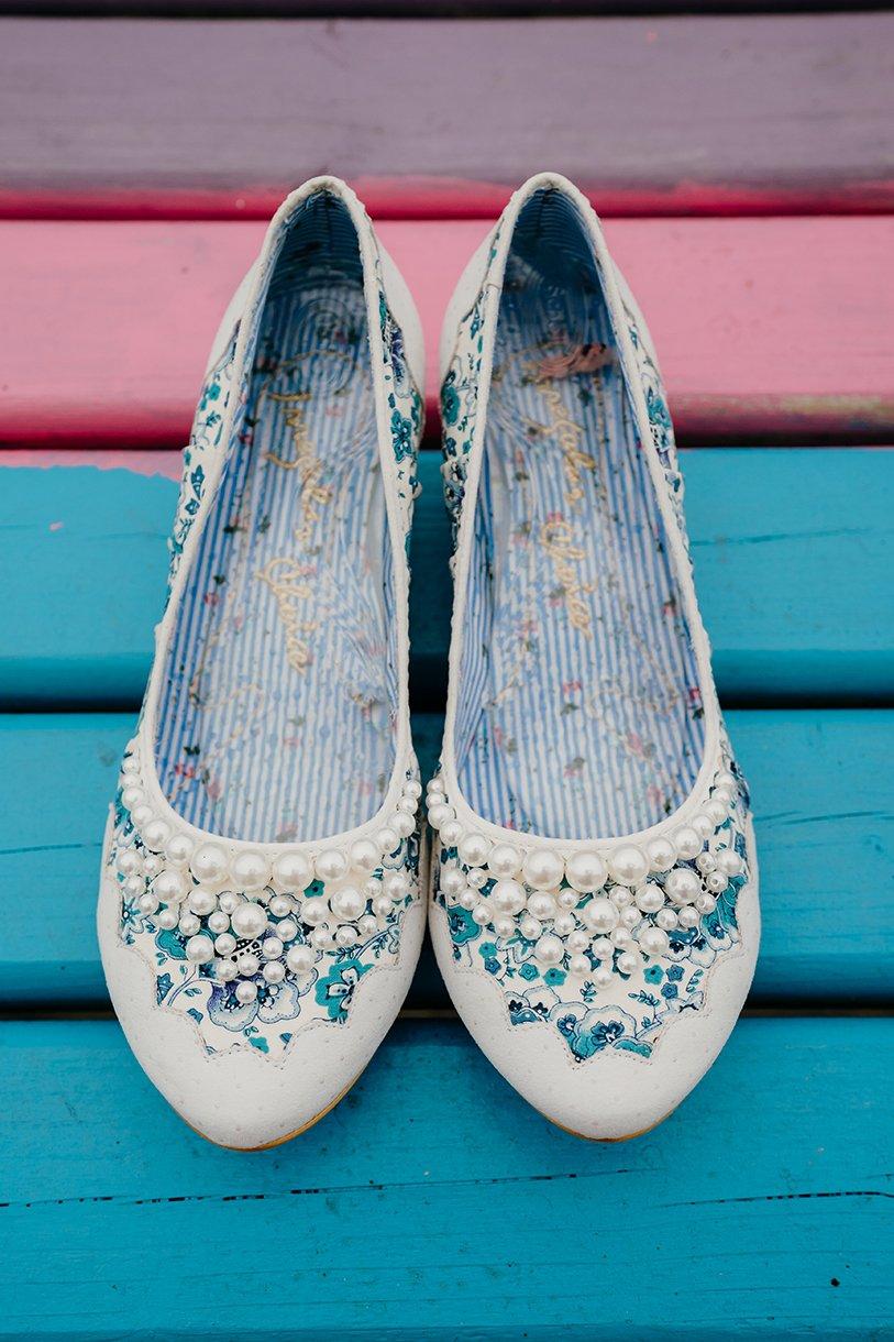 Great Northern Hotel Bundoran Summer Wedding brides shoes