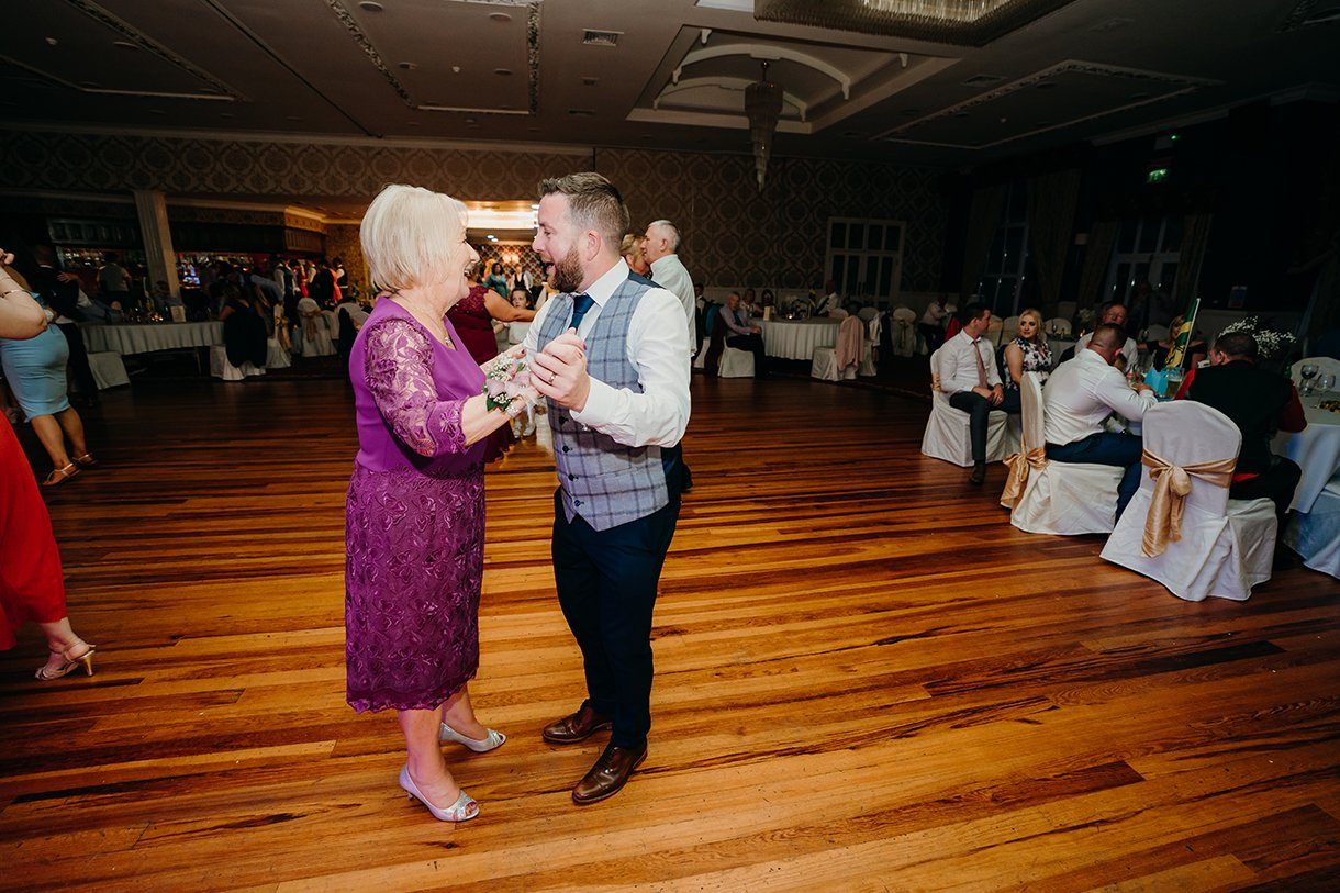 Great Northern Hotel Bundoran Summer Wedding groom dancing with his mother