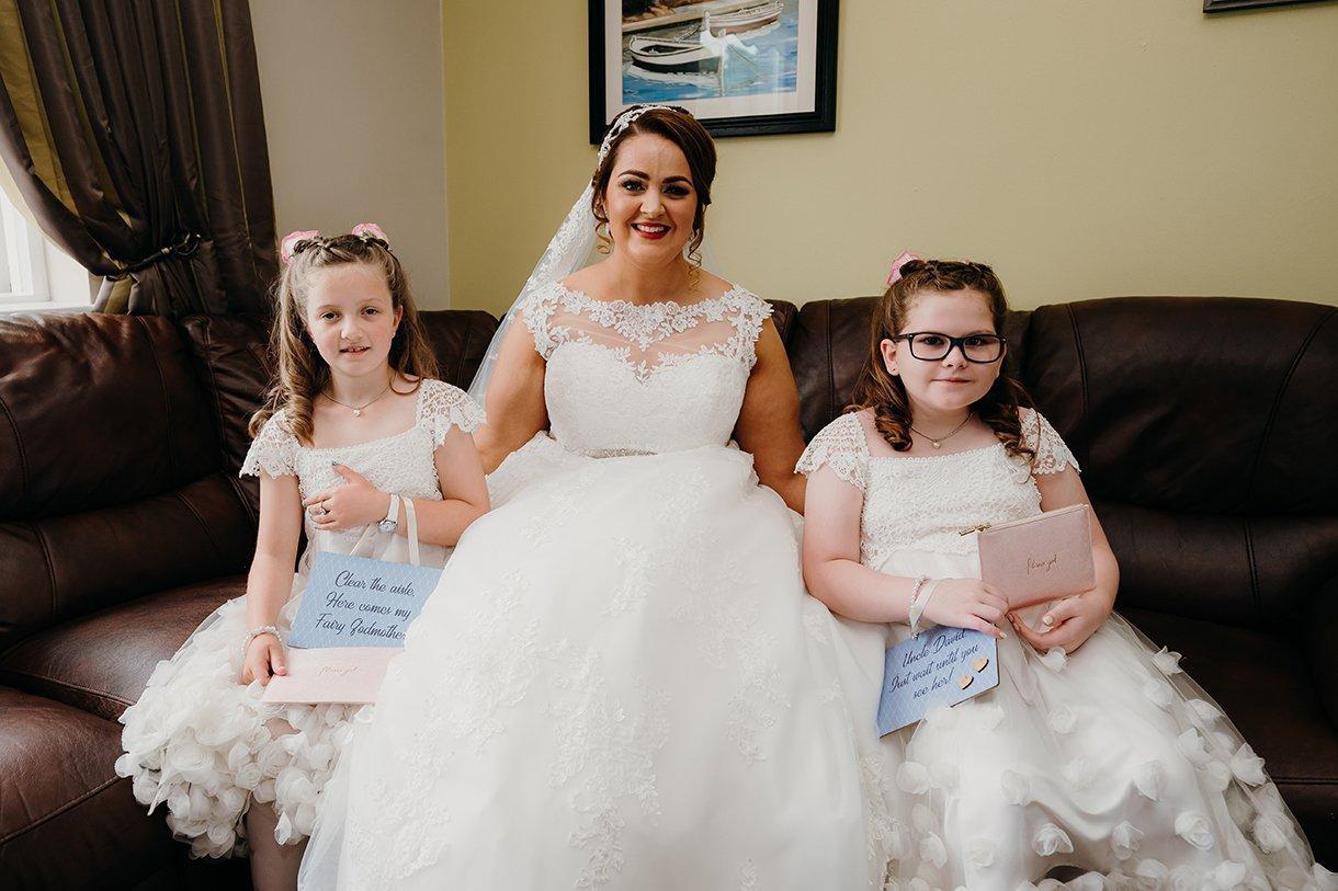 Great Northern Hotel Bundoran Summer Wedding bride with flower girls