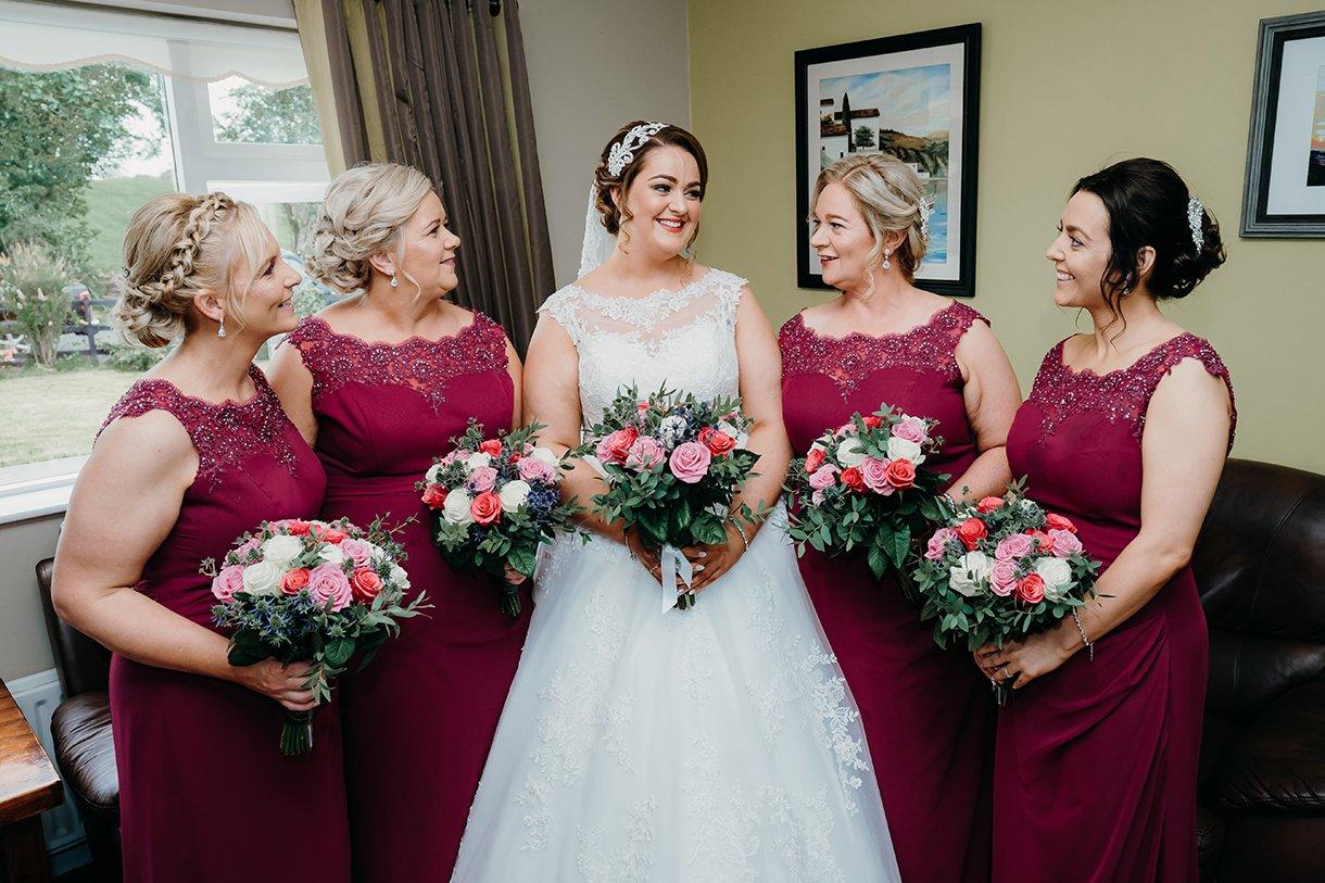 Great Northern Hotel Bundoran Summer Wedding bride and her bridesmaids