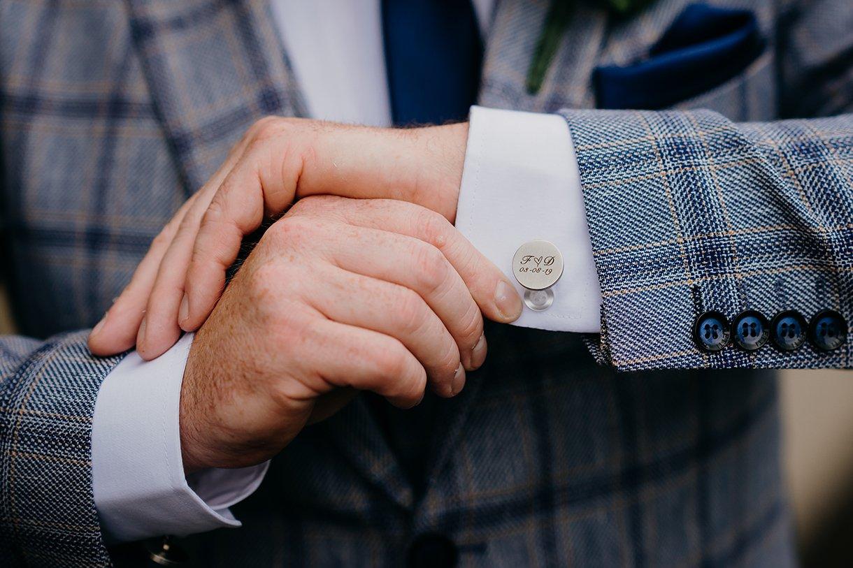 Great Northern Hotel Bundoran Summer Wedding grooms cufflinks