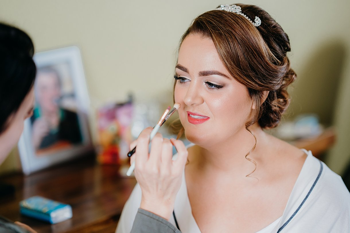 Great Northern Hotel Bundoran Summer Wedding brides makeup