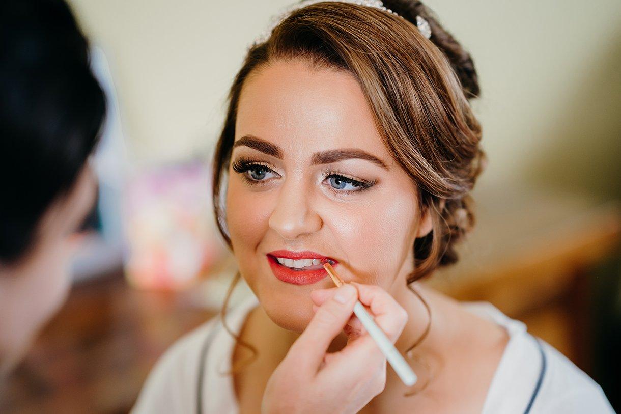 Great Northern Hotel Bundoran Summer Wedding bride getting make up done