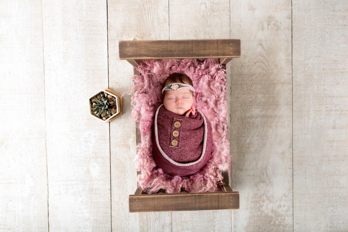 sligo newborn photography girl asleep on a bed